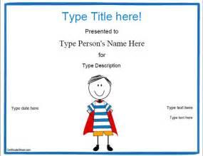 blank certificates hero award certificate template