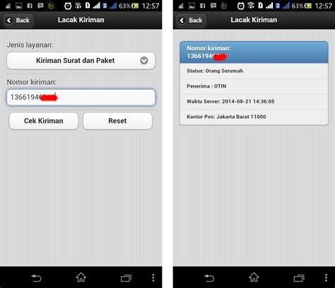 cek resi kantor pos aplikasi android untuk cek nomor resi jordan com
