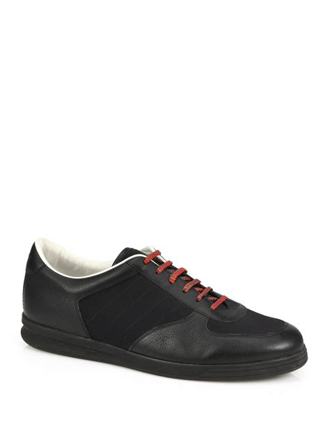 gucci sneakers for lyst gucci 1984 leather anniversary sneakers in black