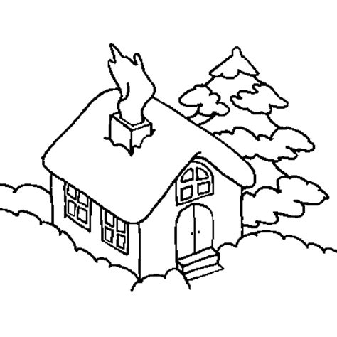 snowy house coloring pages xmas coloring pages