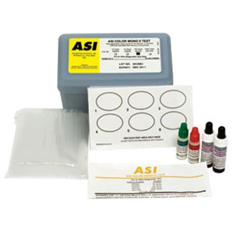 mono test mono spot test mono nucleosis test 100 box asi 450100