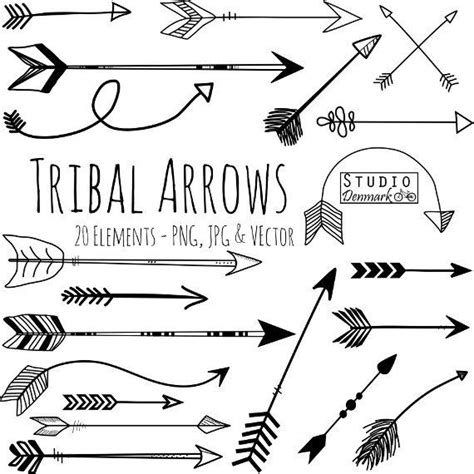 aztec arrow tattoo tribal arrow clipart and vectors arrow clip