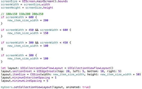 xcode swift layout tutorial ios xcode swift uicollectionview layout cell sizing