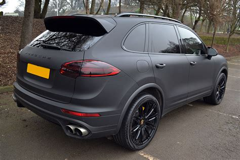 porsche cayenne matte black porsche cayenne wrapped in matte black reforma uk