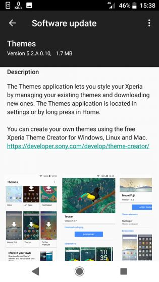 sony mobile xperia theme creator beta android 5 sony updates xperia themes app with new ui 5 2 a 0 10
