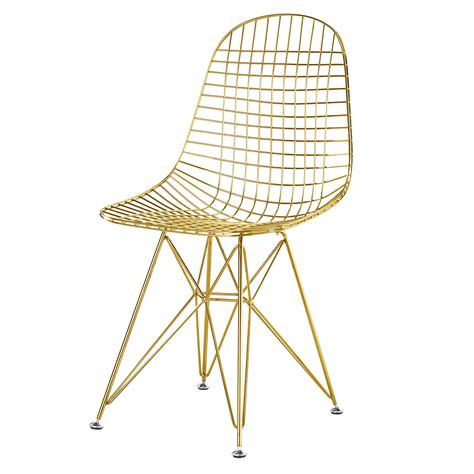 Wire Desk Chair by Gold Wire Side Chair With Cushion Home And Office