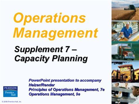supplement 7 capacity planning heizer supp 07