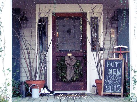 winter porch decorating ideas winter front porch cottage in the oaks
