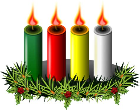 Advent Wreath And Candles Clipart