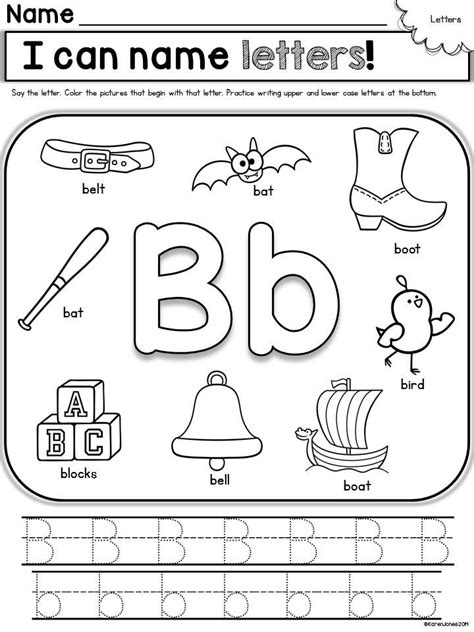 Name Letter B 7 best images about letter b worksheets on