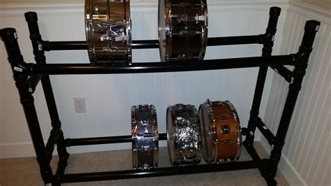Snare Rack by Diy Snare Drum Rack Shelf