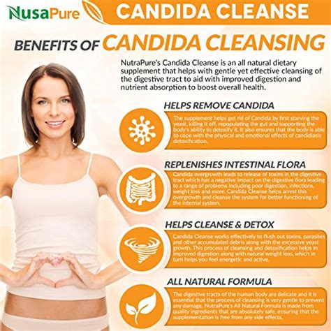 Acid Detox Symptoms by Candida Support Cleanse Non Gmo 120 Caps Yeast
