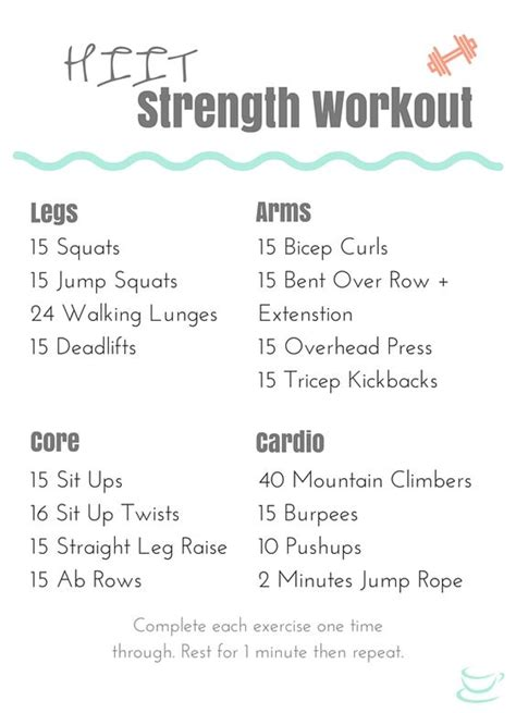 beginner hiit strength workout that s and