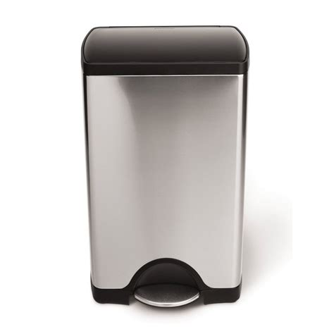 Simplehuman Kitchen Trash Can by Simplehuman Cw1950int Brushed Stainless Steel Indoor
