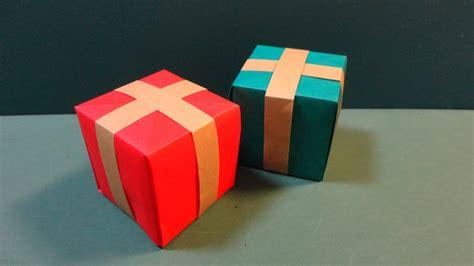Present Origami - クリスマス プレゼントボックス 折り紙 quot present box quot origami