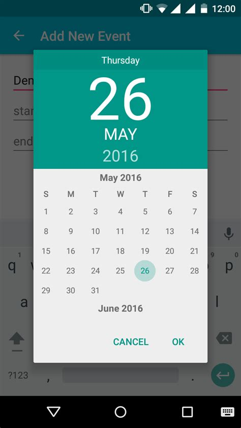 android datepicker android app development for phones tablets android datepicker exle
