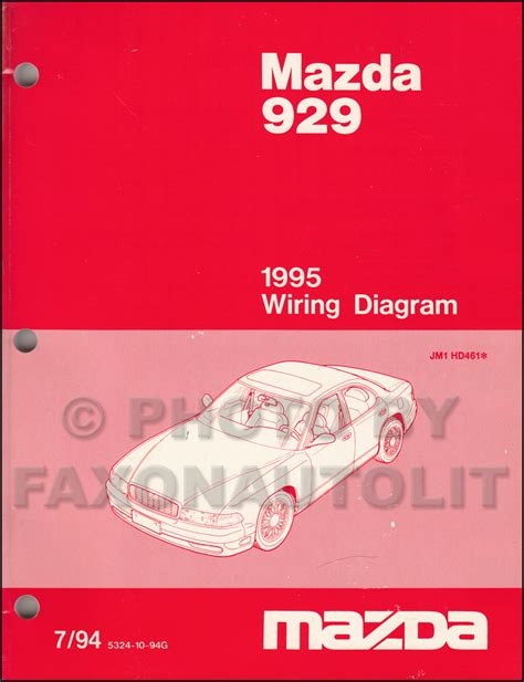 free car manuals to download 1995 mazda 929 electronic throttle control 1995 mazda 929 wiring diagram manual original