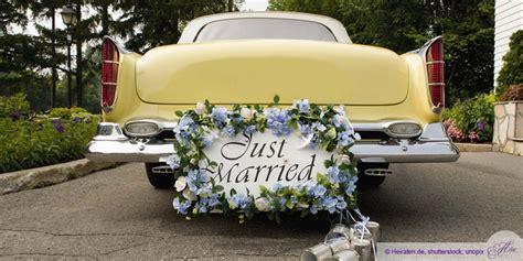 Just Married Fahnen F Rs Auto by Ja Sagen Und Einsteigen