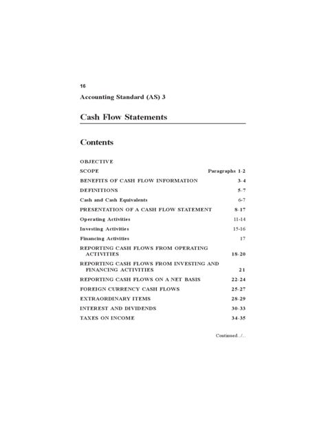 cash flow statement format ts grewal cash flow statement guide free download