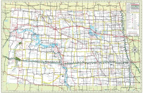 nd road map dakota state highway map maplets