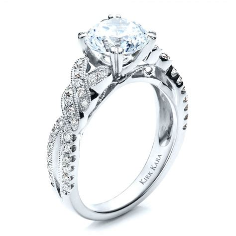 Diamond Split Shank Engagement Ring with Matching Wedding