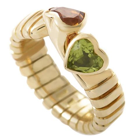 Citrin Golden Zero bulgari citrine peridot gold ring at 1stdibs