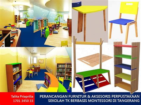 desain interior perpustakaan sekolah perancangan furnitur aksesoris perpustakaan sekolah tk