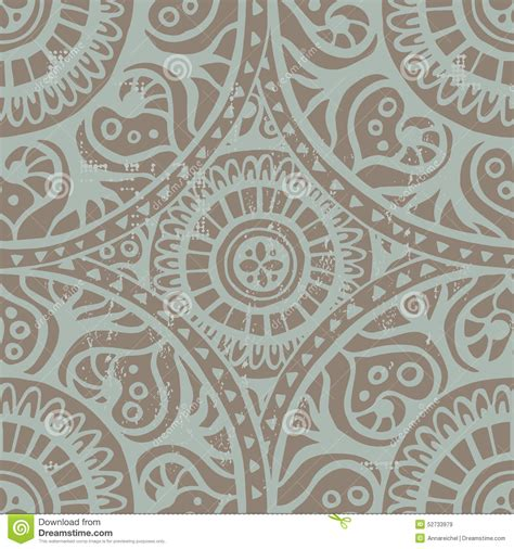 vintage ethnic pattern vintage shabby ethnic seamless pattern stock vector
