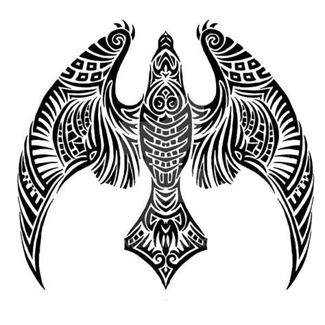 hawk tribal tattoo tribal hawk design colour black hawk