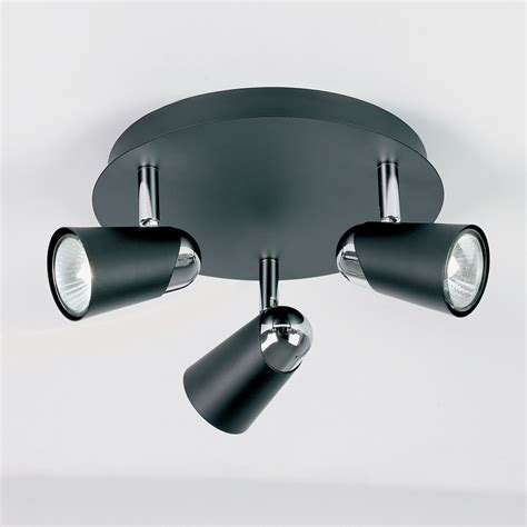 spotlight ceiling lights endon el 10053 civic 3 light ceiling spotlight plate