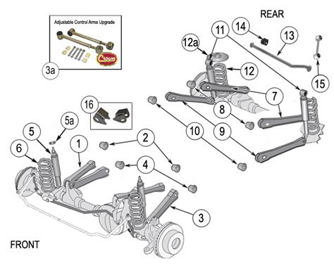 jeep jk suspension diagram jeep wrangler tj suspension parts years 1997 2006