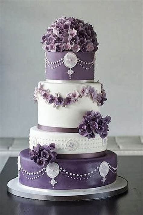 classic purple and white wedding cake with marzipan roses cake wrecks home sunday sweets for roy g biv