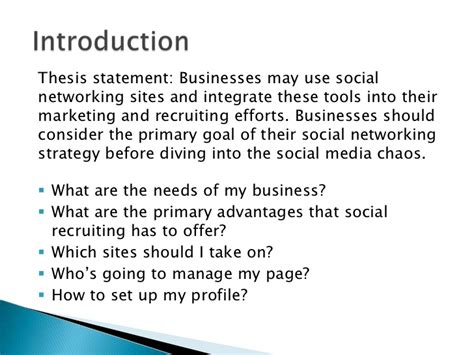 thesis about social media sites thesis statement on social networking sites