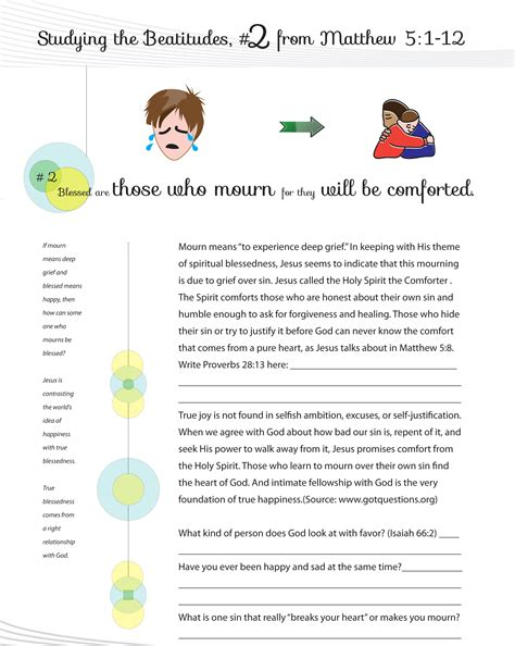 Beatitudes Printable Worksheets by Beatitudes Graphics Worksheets Curriculum For Sunday