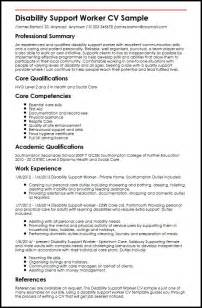 Disability Worker Cover Letter by Disability Support Worker Cv Sle Myperfectcv