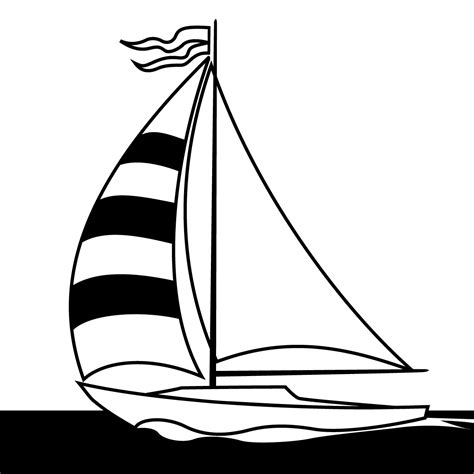 boat clipart black sailboat clip art black and white clipart panda free