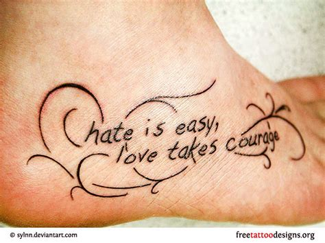 love tattoo on foot quotes tattoos on foot love quotes tattoos tattooeve