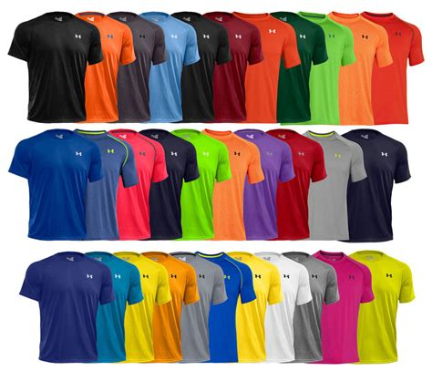 tshirt colors new armour tech s athletic sleeve t shirt