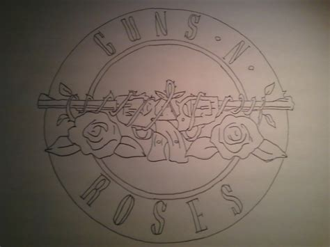N Drawings by Guns N Roses Logo By Mikefg On Deviantart