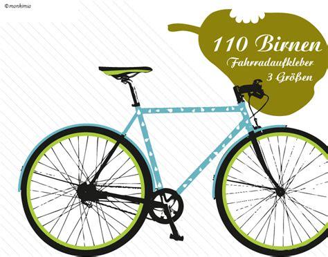 Apple Aufkleber Birne by Fahrrad Aufkleber Birnen Monkimia Shop
