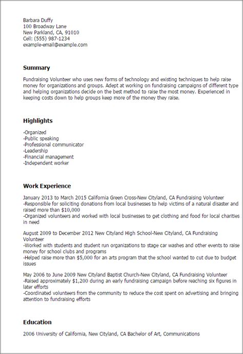 covering letter exles for charity 1 fundraising volunteer resume templates try them now