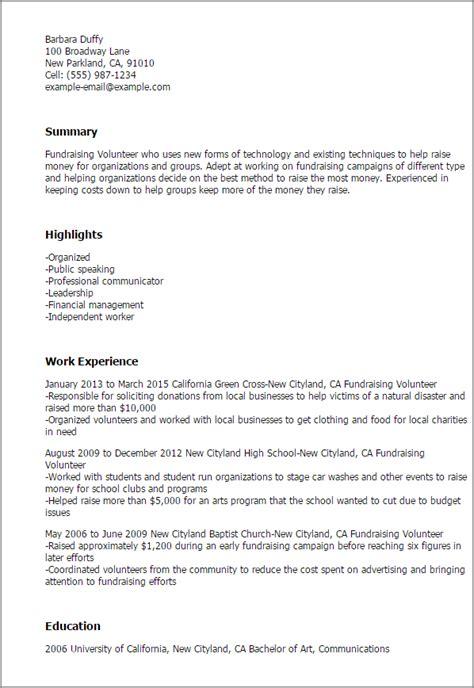 Fundraising Resume by Fund Raising Resume Copywriteropenings Web Fc2
