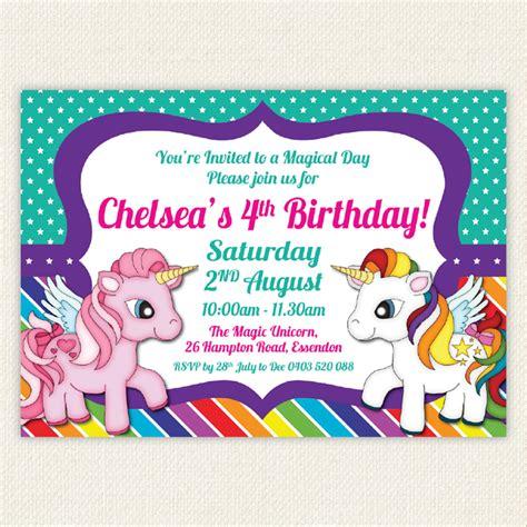 printable rainbow unicorn invitations rainbow unicorn stars birthday invitation printable pony