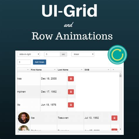 grid pattern ui automation ui grid and row animations