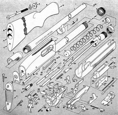 remington 870 diagram exploded view of a remington 870 shotgun guns general