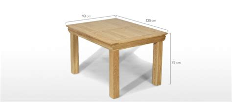 constance oak 125 cm dining table quercus living