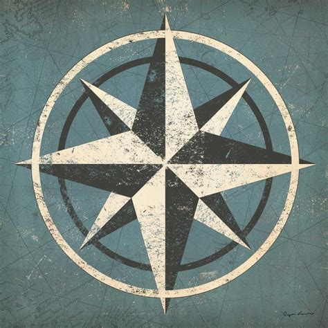 Compass Gardens by Nautical Compass Blue By Fowler Garden Statues And