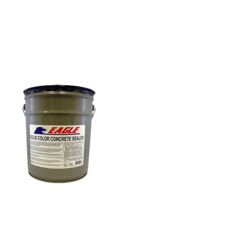 eagle 5 gal white solid color solvent based