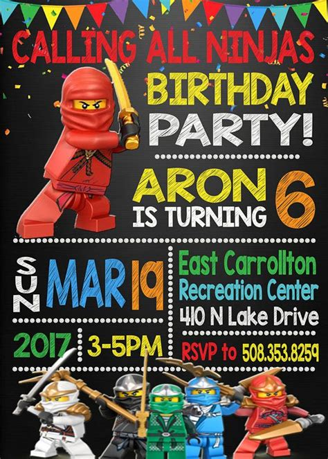 indie film ninja party lego ninjago birthday invitation lego ninjago birthday