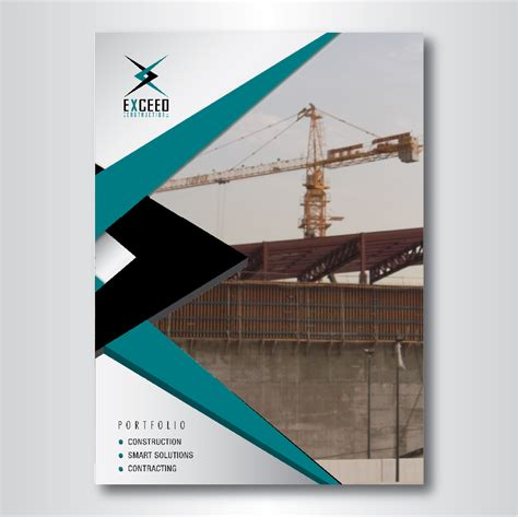 elegant company profile design elegant modern graphic design for exceed construction